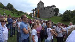 Indenfor i fyrstens slot i Liechtenstein