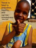 Plakat af barn fra Uganda - med citat