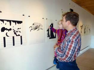 Når tegninger kommer på museum – også for børn