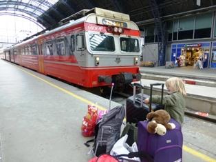Karla foran toget fra Bergen til Oslo