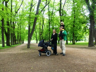 Globetrotterfamilien i Oslo